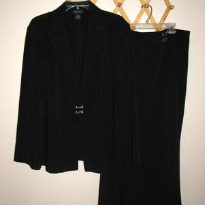 Lane Bryant 2 piece black stripe blazer skirt suit
